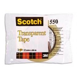 Ruban adhésif scotch transparent résistant 12mmx66m sachet