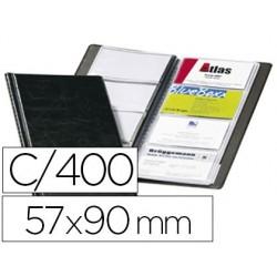 Porte-cartes de visite durable visifix aspect cuir...