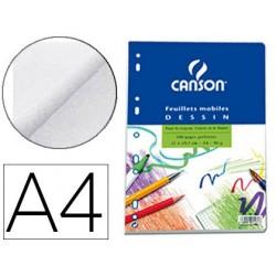Feuillet mobile dessin canson a4 210x297mm papier blanc...