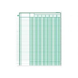 Registre piqûre exacompta colonnes 250x320mm 31 lignes 4...