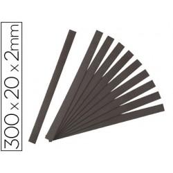 Bande magnétique adhésive jpc 300x20x2mm sachet 10 unités