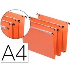 Dossier suspendu esselte dual kraft orange 220g a4 tiroir...
