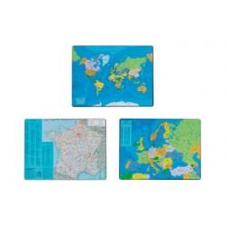 Sous-main esselte géographique planisphère pvc mousse...