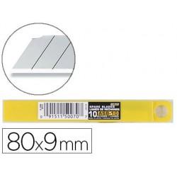 Lame rechange olfa cutter 9mm acier inoxydable étui 10...