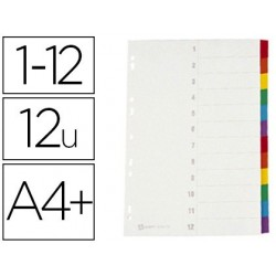 Intercalaire avery carton fort 12 positions a4+ 212x310mm...