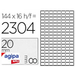 Étiquette adhésive apli agipa multi-usage 8x20mm laser...