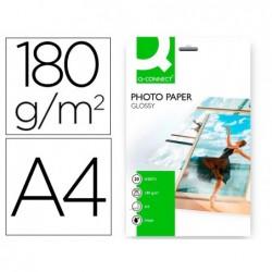 Papier photo q-connect jet d'encre semi-glacé brillant a4...
