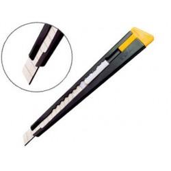 Cutter olfa 180 lame 9mm crémaillère acier laqué mat clip...