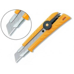 Cutter olfa l1 corps abs lame acier 18mm blocage par...