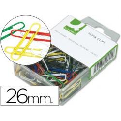 Trombone q-connect 26mm couleur boîte 125 unités