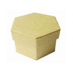 Boîte en carton à décorer forme hexagonale 7.8x5cm