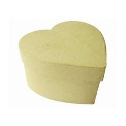 Boîte en carton à décorer forme coeur 10.5x9.5x6cm