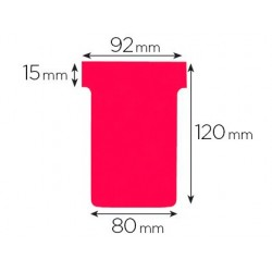 Fiche planning nobo indice 3 15x92x120x80mm coloris rouge...