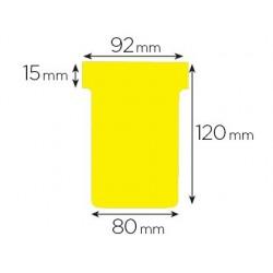 Fiche planning nobo indice 3 15x92x120x80mm coloris jaune...