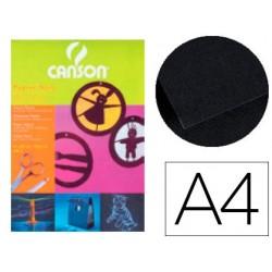 Papier dessin folia a4 130g/m2 unicolore noir paquet 20f