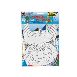 Masque enfant folia papier blanc à décorer avec élastique...