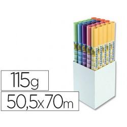 Papier calque folia 505x700mm 115g 6 coloris assortis...