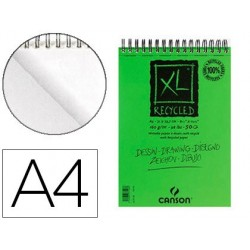 Bloc croquis canson xl recyclé spirale micro-perforations...