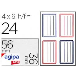 Étiquette adhésive apli agipa écolier 36x56mm pochette 24...