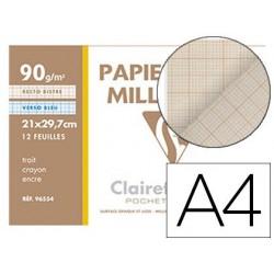 Papier vélin millimétré clairefontaine 90g a4 297x210mm...