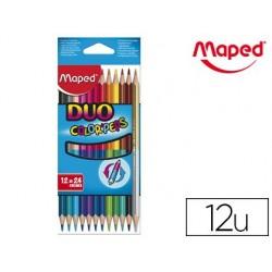 Crayon couleur maped color pep's duo 2 en 1 mine tendre...