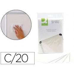 Chiffon q-connect absorbant jetable tous produits liquide...