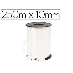 Bobine bolduc métallisé 250mx10mm coloris blanc