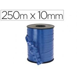 Bobine bolduc métallisé 250mx10mm coloris bleu