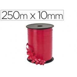 Bobine bolduc métallisé 250mx10mm coloris rouge