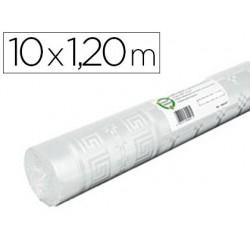 Nappe papier damassé 45g/m2 rouleau extra-blanc 1.20x10m