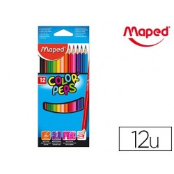 Crayon couleur maped color pep's triangulaire mine tendre...