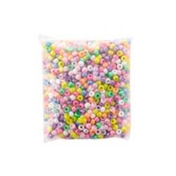 Perle plastique mixte 450g sachet 1500 unités