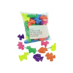 Perle plastique animaux 110g coloris assortis sachet 59...