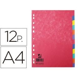 Intercalaire q-connect carte lustrée 225g 12 positions a4...