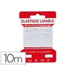 Fil élastique coloris blanc 10m