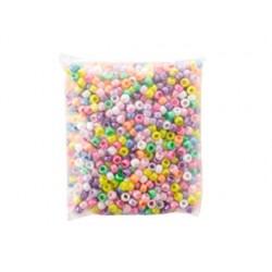 Perle plastique nacrée arrondie diamètre 9mm coloris...