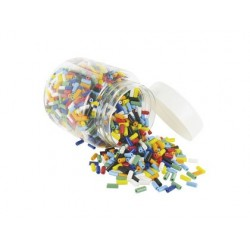 Perle forme cylindre opaque coloris assortis bocal 500g
