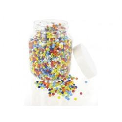 Perle rocaille opaque diamètre 5mm bocal 500g