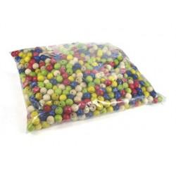 Perle en bois ronde diamètre 10mm coloris assortis sachet...