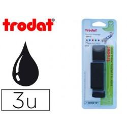 Recharge tampon trodat encre couleur noir blister 3 unités