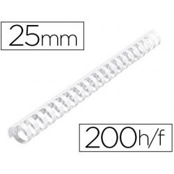 Anneau plastique à relier fellowes dos rond capacité 200f...