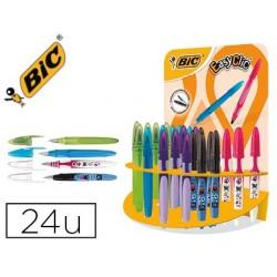 Présentoir 24 stylos-plumes bic easy clic décor