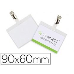Badge q-connect pvc clip bristol blanc idéal conférences...