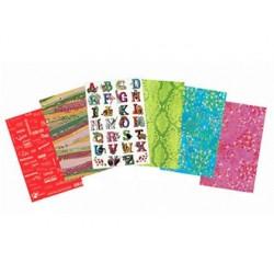 Papier décopatch scolaire enfants 6 motifs coloris...
