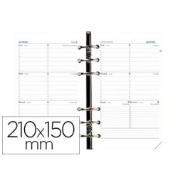 Calendrier quo vadis 16 mois 1 semaine/2 pages 21x15cm...
