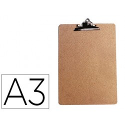 Porte-bloc q-connect carton extra rigide a3 pince métallique