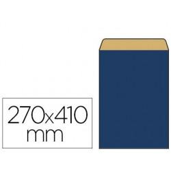 Pochette kraft vergé 60g 240x90x410mm coloris bleu