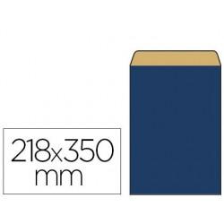 Pochette kraft vergé 60g 180x60x350mm coloris bleu