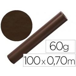 Bobine comptoir kraft vergé 100x0.7m 60g/m2 mandrin...