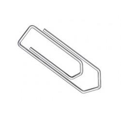 Trombone q-connect galvanisé 32mm boîte carton 100 unités